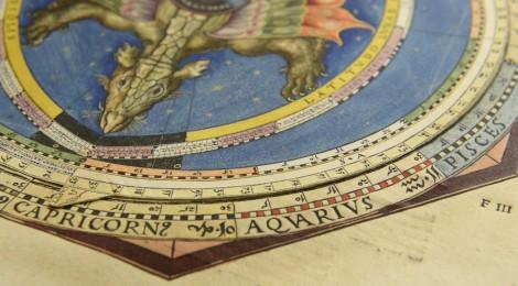 Petrus Apianus, Astronomicum Caesareum, 1540. Ingoldstadt. Antes del pop-up. Museo de la Biblioteca Nacional de España. Madrid, 2016. Cortesía Museo BNE.