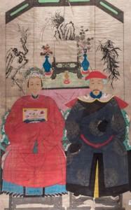 Lote 487, Subasta 534. Acuarela de escuela china antigua. Julio 2016. Durán Arte y Subastas.