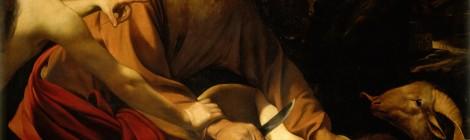Michelangelo Merisi Caravaggio, El sacrificio de Isaac, 1603. Óleo sobre lienzo. 104 x 135 cm Florencia, Gallerie degli Uffizi. Cortesía: Museo Thyssen-Bornemisza, Madrid, 2016.
