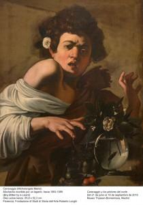 Caravaggio. Muchacho mordido por un lagarto, hacia 1593-1595. Museo Thyssen-Bornemisza, Madrid, 2016.