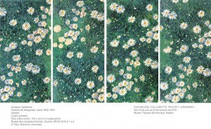 Gustave Caillebotte, Parterre de Margaritas, hacia 1892-1893. Museo Thyssen-Bornemisza, Madrid, 2016.