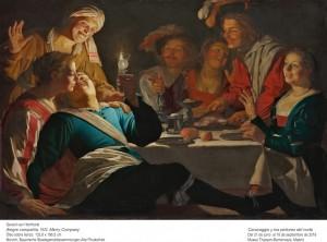 Gerard van Honthorst, Alegre compañía, 1622. Museo Thyssen-Bornemisza, Madrid, 2016.