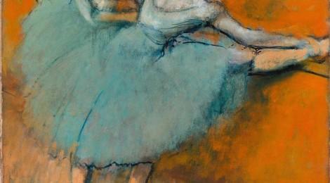 Hilaire-Germain-Edgar Degas, Bailarinas en la barra, ca. 1900. The Phillips Collection, Washington D.C. Cortesía: CaixaForum Madrid, 2016.