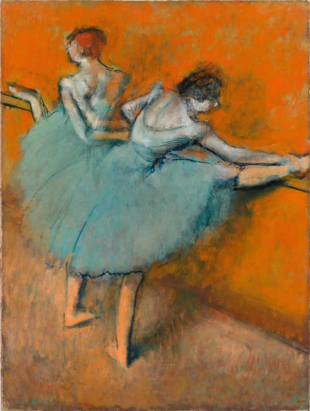 Hilaire-Germain-Edgar Degas, Bailarinas en la barra, ca. 1900. CaixaForum Madrid, 2016.
