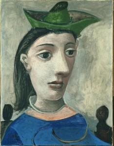 Pablo Picasso, Mujer con sombrero verde, 1939. CaixaForum Madrid, 2016.