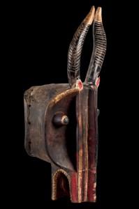 Lote 605, Subasta 535, Máscara yelmo Goli Glen, Costa de Marfil, hacia 1920. Septiembre 2016. Durán Arte y Subastas.