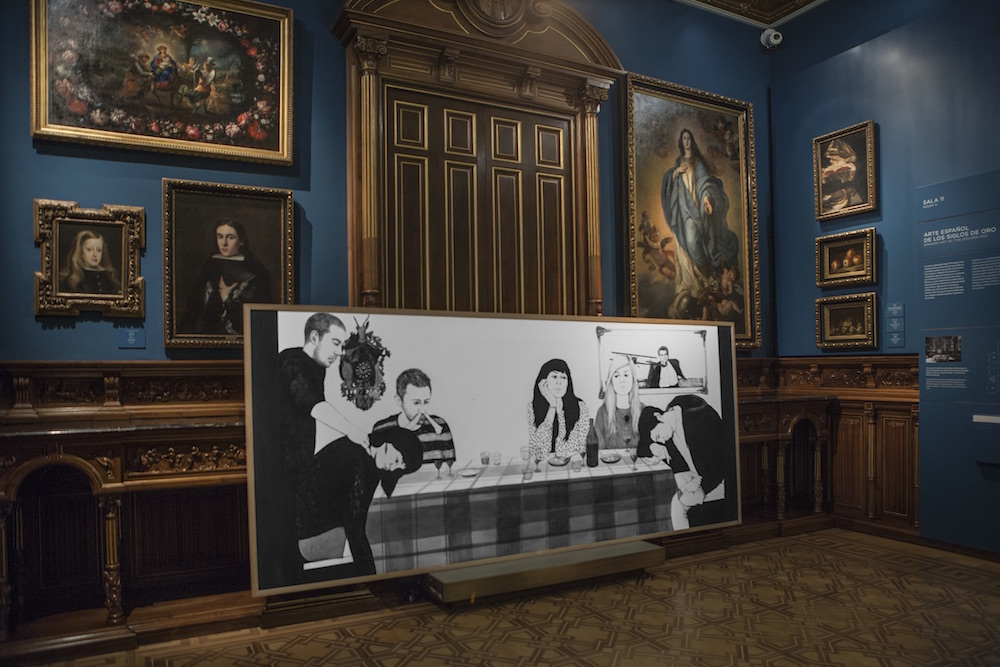 "Rosana Antolí , ""The First Dinner"" © Tofiño. Cortesía: Museo Lázaro Galdiano, Madrid, 2016.."