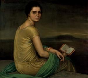 Lote 115, Subasta 535, Julio Romero de Torres, Retrato de la señorita de Alfonso, 1924. Septiembre 2016. Durán Arte y Subastas.
