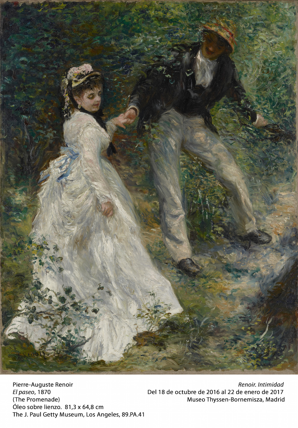 Pierre-Auguste Renoir, El paseo, 1870. Museo Thyssen-Bornemisza, Madrid, 2016.