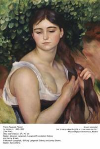 Pierre-Auguste Renoir, La trenza, 1886-87. Museo Thyssen-Bornemisza, Madrid, 2016.
