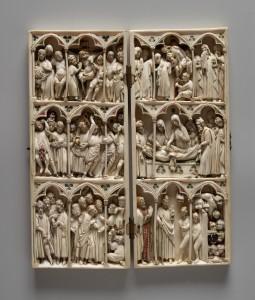 Los pilares de Europa. Díptico, 1300-1400. Francia. Marfil. CaixaForum Madrid, 2016.