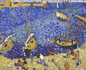 André Derain, Bateaux à Collioure, 1905. Los Fauves. Fundación Mapfre, Madrid, 2016.