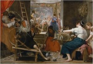 Las hilanderas o La fábula de Aracne, Diego Velázquez, 1655-60. Metapintura. Museo Nacional del Prado, Madrid, 2016.