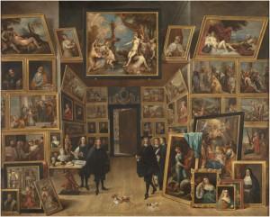 El archiduque Leopoldo Guillermo en su galería de pinturas en Bruselas, David Teniers, 1647-51. Metapintura. Museo Nacional del Prado, Madrid, 2016.