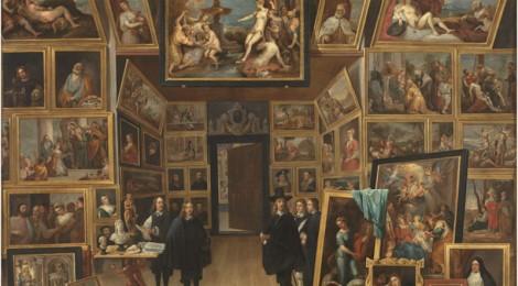 David Teniers, El archiduque Leopoldo Guillermo en su galería de pinturas en Bruselas. Óleo sobre lámina de cobre, 104,8 x 130,4 cm. 1647-51. Madrid, Museo Nacional del Prado. Cortesía: Museo Nacional del Prado, 2016.