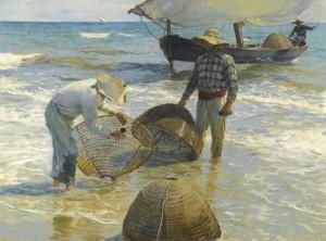 Pescadores valencianos, Joaquín Sorolla, 1895. Sorolla en París. Museo Sorolla, Madrid, 2016.