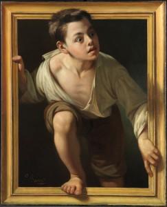 Huyendo de la crítica, Pere Borrell y del Caso, 1874. Metapintura. Museo Nacional del Prado, Madrid, 2016.