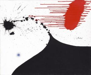 Joan Miró, Mujer, 1974. Cortesía: Fundación Mapfre, Madrid, 2017.