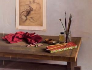 Lote 191, Subasta 539, Ricardo Maffei, La mesa del pintor. Enero 2017. Durán Arte y Subastas.