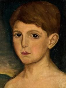 Lote 175 Subasta 540, Retrato de niño, Julio Romero de Torres. Febrero 2017. Durán Arte y Subastas.