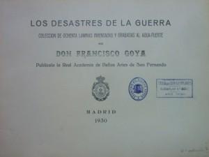 Lote 205, Subasta 540, Francisco de Goya, Los desastres de la guerra, 1930. Febrero 2017. Durán Arte y Subastas.