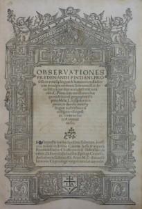 Lote 3109 Subasta 540, Observationes Fredenandi Pintiani, 1544, George Turnbull. Febrero 2017. Durán Arte y Subastas.