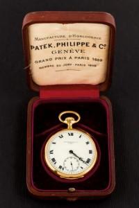 Lote 634, Subasta 540, reloj de bolsillo Patek Philippe en oro de principios del siglo XX. Febrero 2017. Durán Arte y Subastas.