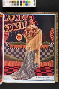 Patrimonio flamenco. Pastora Imperio en la portada de la revista Mundo Gráfico, 1928. BNE, Madrid, 2017.