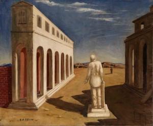 Plaza de Italia (Recuerdo de Italia). Giorgio de Chirico (1924-1925). Fundación Mapfre. Madrid, 2017.