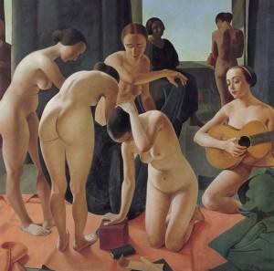 Concerto [Concierto], Felice Casorati, 1924. Fundación Mapfre. Madrid, 2017.