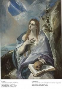 La Magdalena penitente, El Greco, hacia 1576. Museo de Bellas Artes de Budapest.