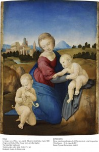 La Virgen con el Niño y san Juanito (Madonna Esterházy), Rafael Sanzio, hacia 1508. Museo de Bellas Artes de Budapest.
