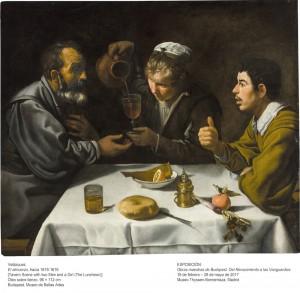 El almuerzo, Diego Velázquez, 1618-1619. Museo de Bellas Artes de Budapest.
