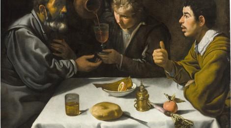 Diego Velázquez, El almuerzo, hacia 1618-1619. Óleo sobre lienzo, 96 x 112 cm. Budapest, Museo de Bellas Artes. Cortesía: Museo Thyssen-Bornemisza, Madrid, 2017.