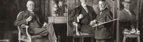 Joaquín Sorolla pintando el retrato de Thomas Fortune Ryan en París. Anónimo. 1913. Museo Sorolla. Cortesía Museo Sorolla.