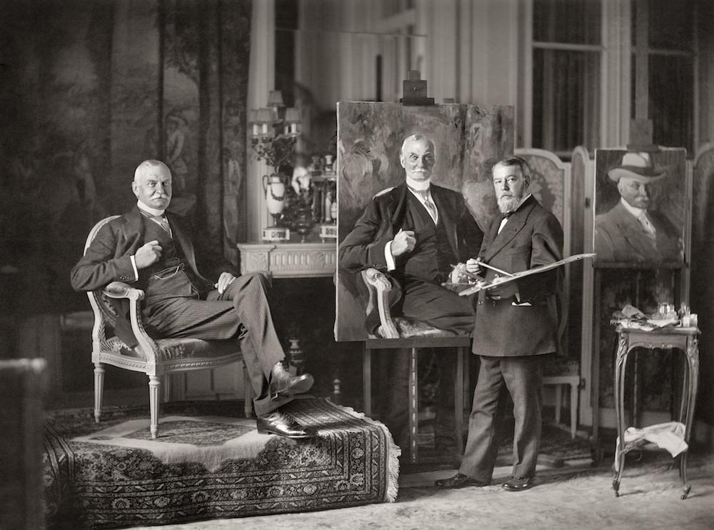 Anónimo, Joaquín Sorolla pintando el retrato de Thomas Fortune Ryan en París, 1913. Museo Sorolla. Madrid, 2017.
