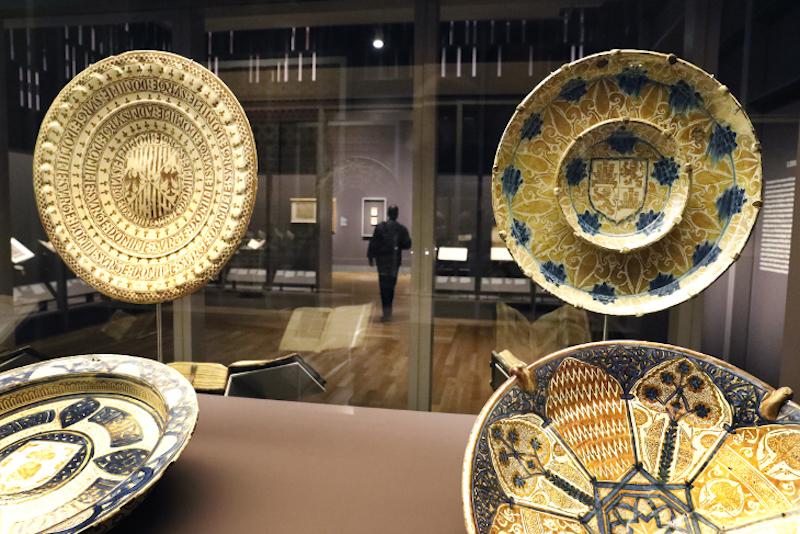 Tesoros de la Hispanic Society of America, vista de la exposción. Hispanic Society en el Museo Nacional del Prado. Madrid, 2017.