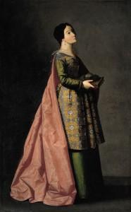 Santa Emerenciana. Francisco de Zurbarán, 1635. Hispanic Scciety en el Museo Nacional del Prado. Madrid, 2017.