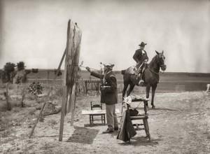 Venancio Gombau, Sorolla pintando Charro a caballo en los campos de Salamanca en 1912. Museo Sorolla. Madrid, 2017.