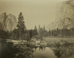 Carleton E. Watkins, Vista hacia el Valle Yosemite. Watkins, Carleton E. 1863-1866. Casa de América, Madrid, 2017.
