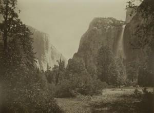 Carleton E. Watkins, Desfiladero Jutacanula y la catarata Velo de Novia. Yosemite, 1863-1866. Casa de América, Madrid, 2017.