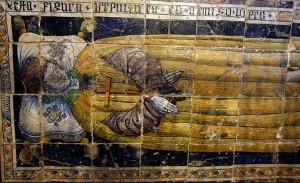 Tumba panel de Iñigo López, obra de Il Pisano